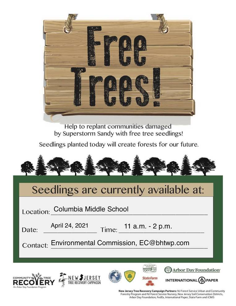 Berkeley Heights, Mark your Calendars to Plant a Thousand Trees