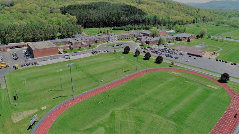 Portville Central School Aerial View