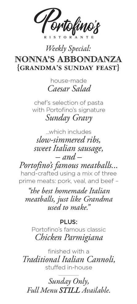 Portofino's Sunday Special Nonna's Abbondanza.jpg