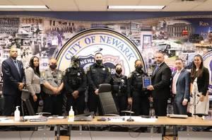 Newark Police Department Awarded for Lifesaving Efforts