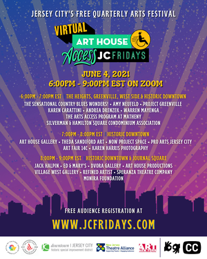 Art House Productions Celebrates Artists with Disabilities for Virtual Access JC Fridays - June 4th