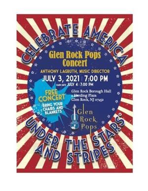 Glen Rock Pops 4th of July Concert: Celebrate In-Person on July 3