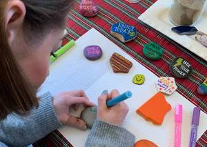 Westfield Grad Spreading Hopeful Messages With Rock Art