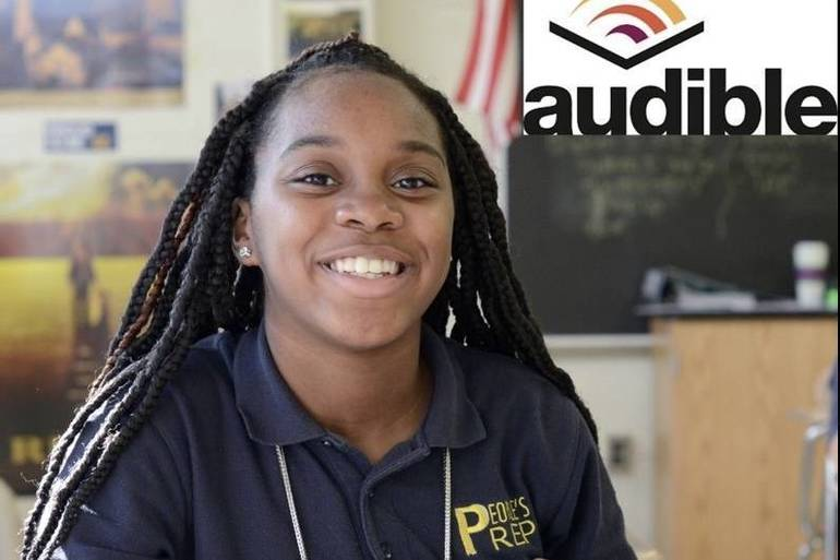 People's Prep Charter School Students Receive Audiobook Donation to Support Monthly Reading Program