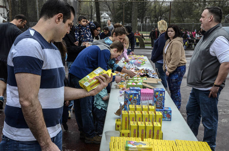 Prize Table at the Fanwood Easter Egg Hunt