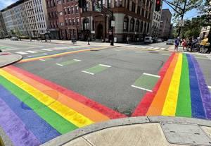Hoboken Restores Pride Crosswalks Outside City Hall to Honor LGBTQ+ Equality