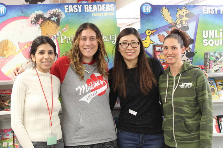 PTA Volunteers at the Milnes Scholastic Book Fair.JPG