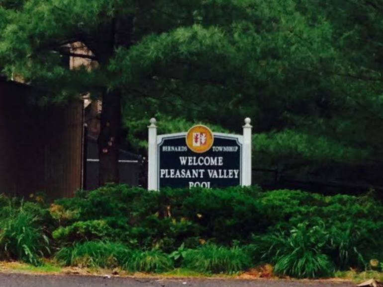 Pleasant Valley Pool sign