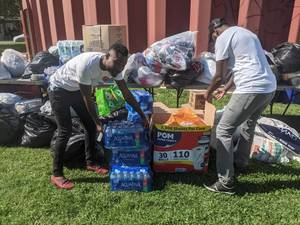 Camden Haitian Community Collects Donations for Battered Homeland