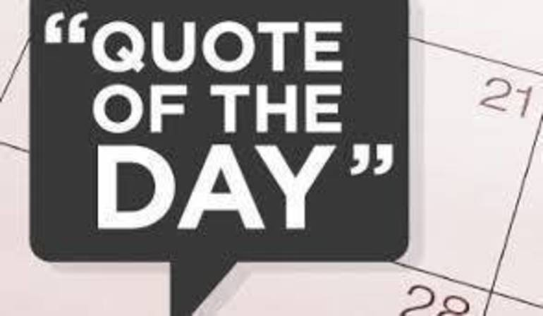 Quote of the Day!