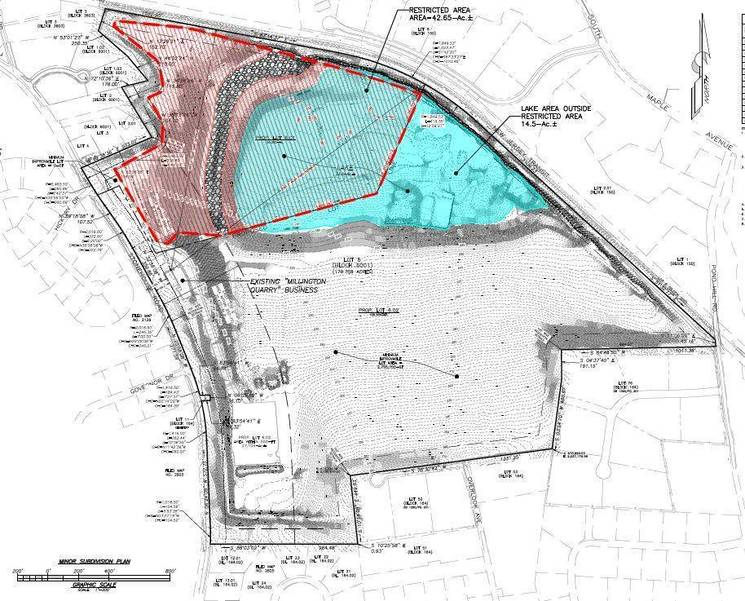 Proposal for Millington Quarry subdivision