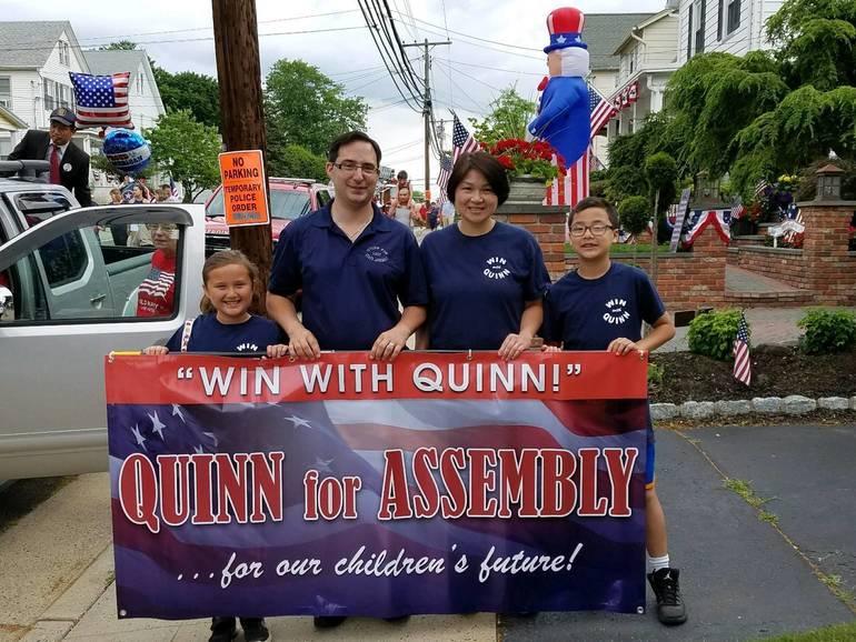 Quinn family at Milltown parade July 4, 2017