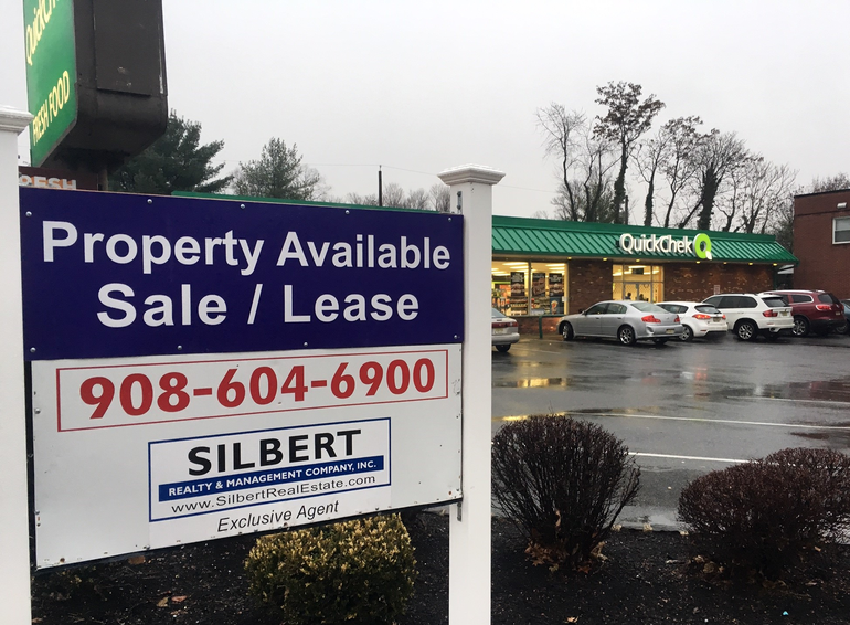 Real estate sign outside the QuickChek on Westfield Ave. and Forest Road in Scotch Plains.