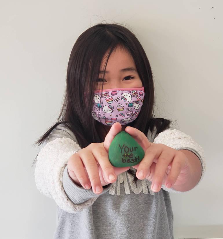 Roxbury Kids' Painted Rocks Will Decorate High School Walkway