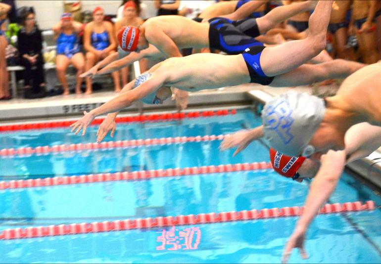 Scotch Plains-Fanwood boys swimming's Bradley Frank.