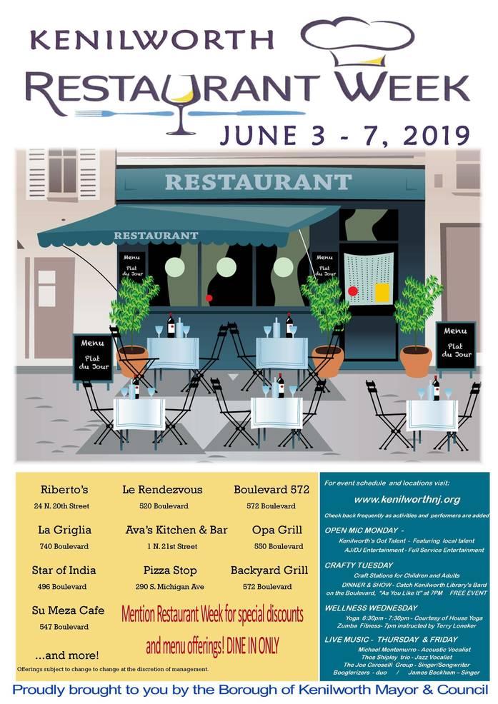 Kenilworth 2019 Restaurant Week