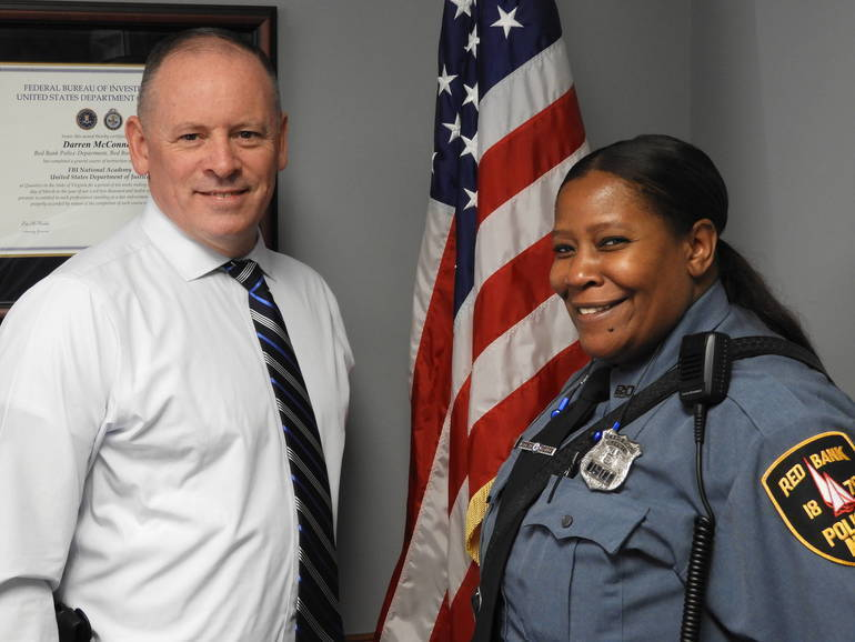 Red Bank Chief of Police Darren McConnell and Community Liason Officer Dawn Shields.jpg