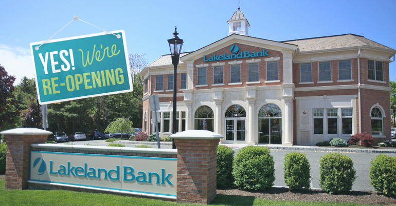Lakeland Bank Branches Re-Open