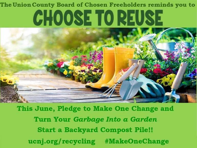 """Union County Supports Free """"Choose to Reuse"""" Composting Classes, June 15 and 17"""