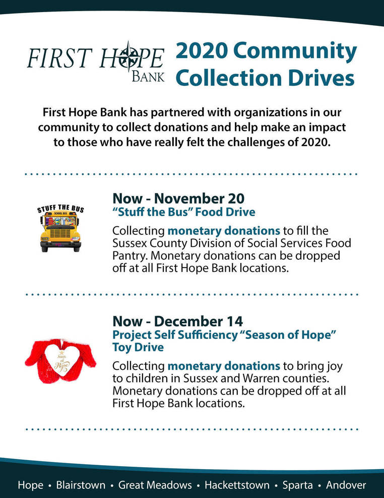 First Hope Supports the Community with 'Season of Hope' and 'Stuff the Bus'