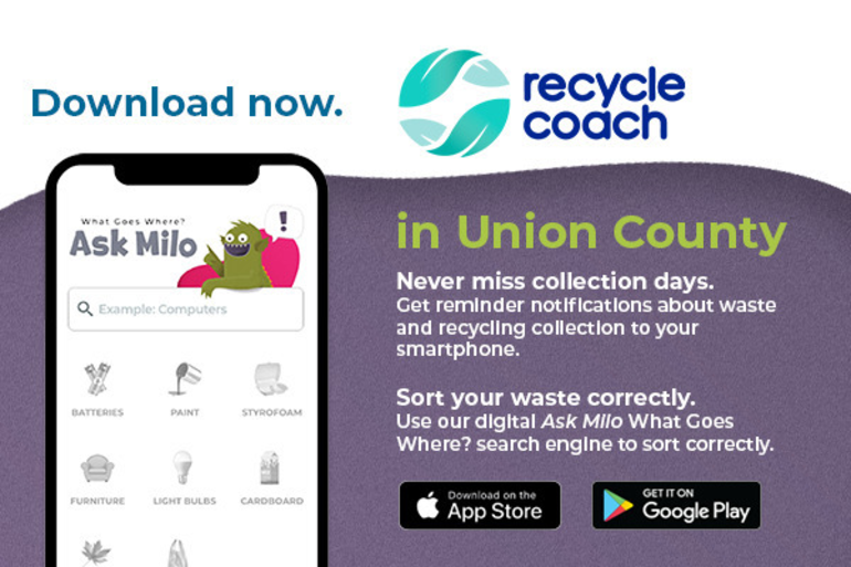 Union County Freeholders Offer Free Mobile App to Connect Residents with Recycling Information
