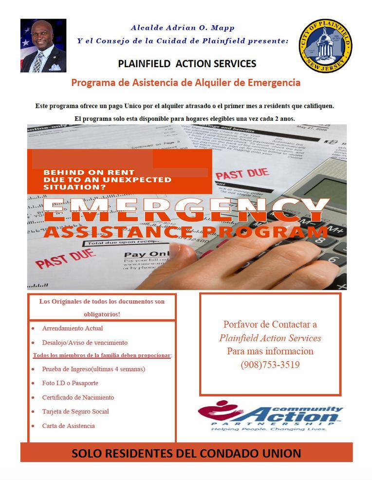 Plainfield Offers Emergency Assistance Programs / Plainfield Ofrece