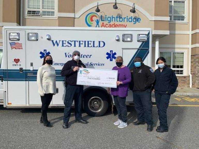 Lightbridge Academy of Westfield Donates $500 to Rescue Squad for PPE