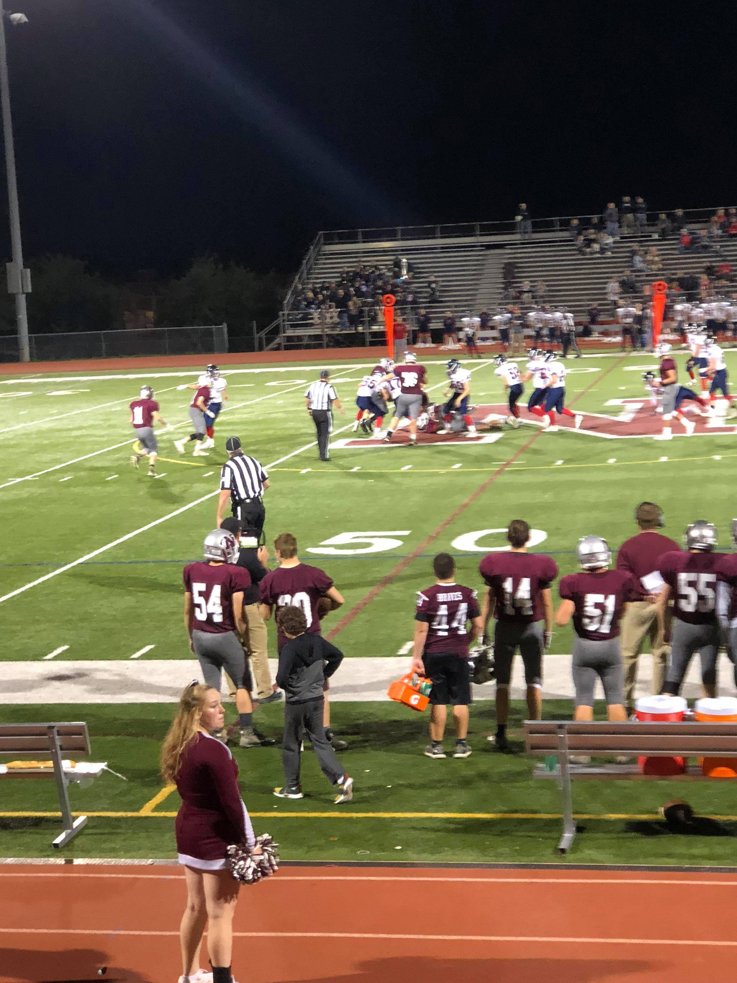 Newton Football Wins Big, Ends Game with Injury