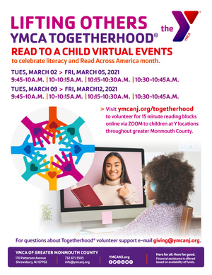 """YMCA Asks You to """"Read to a Child"""" via ZOOM"""
