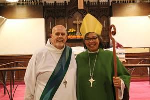 Rev. Erik Soldwedel and Rt. Rev. Carlye Hughes