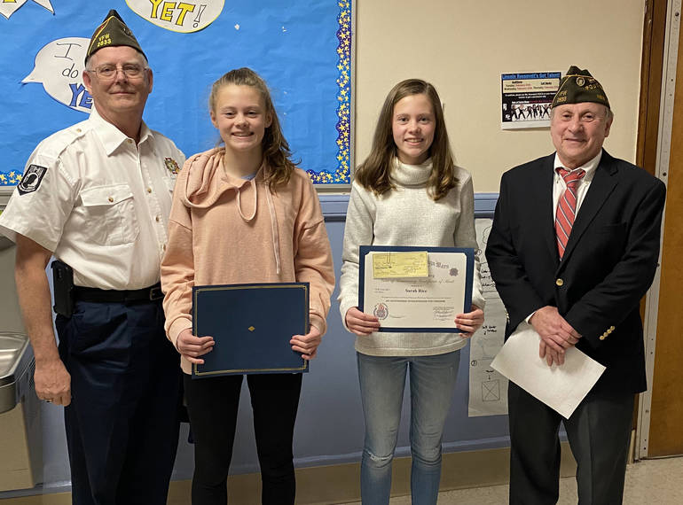 RHS Voice of Democracy Winners with VFW.JPG