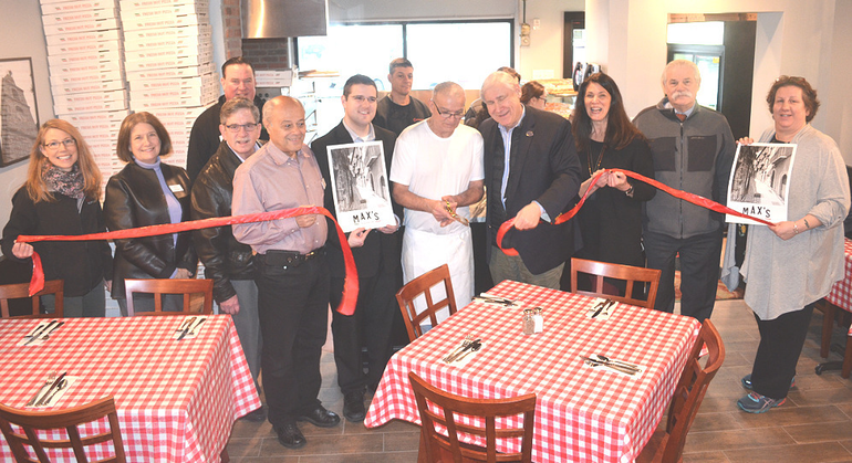 Ribbon-cutting at Max's Pizza & Bistro in Scotch Plains.png