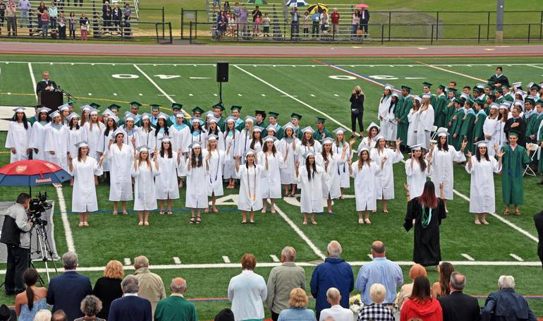 An earlier Ridge graduating class