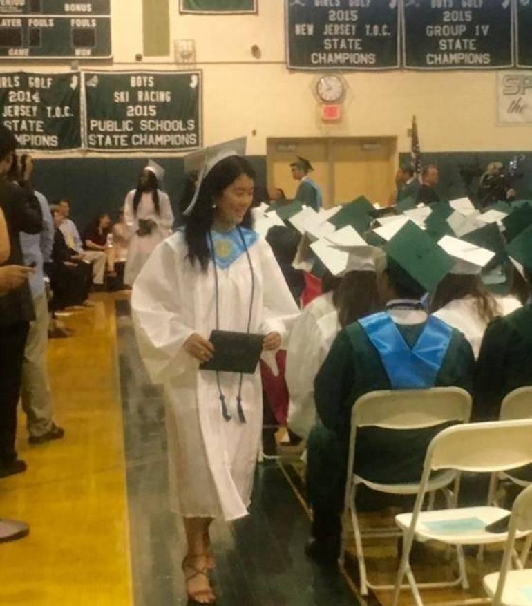 Ridge speaker receives diploma