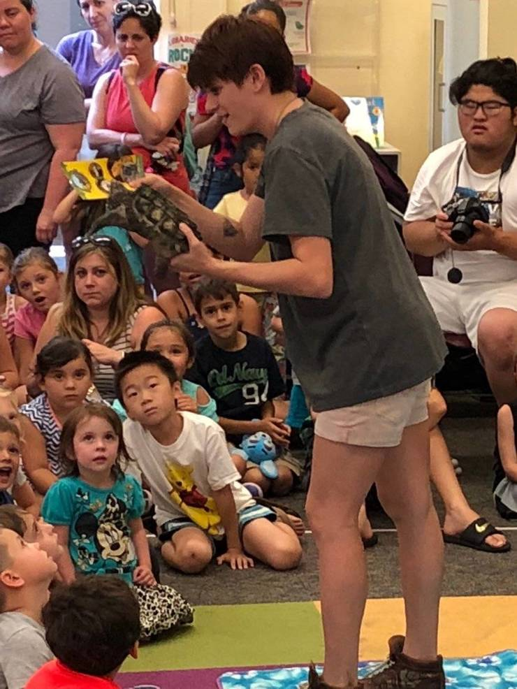 Kids Get Hands On Wildlife Experience at Nutley Library
