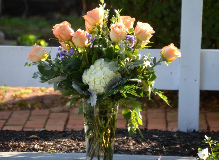 Roses at the dedication of Rose's Garden in Scotch Plains.
