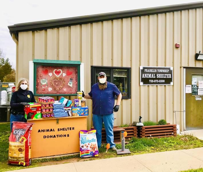 Rob Kash donating supplies to Franklin Township Animal Shelter