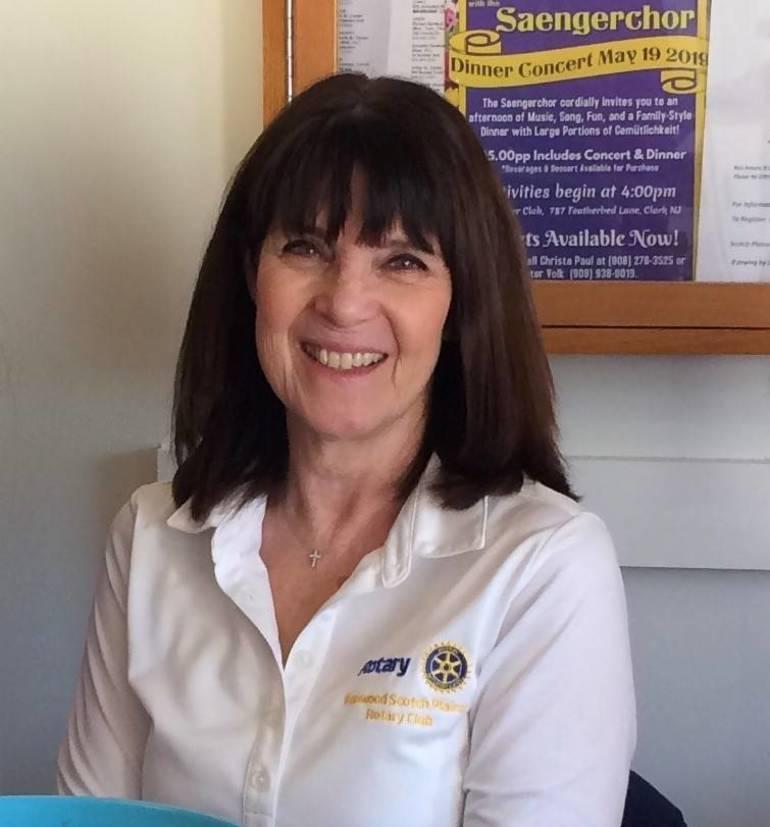 Fanwood-Scotch Plains Rotary Secretary Patty Laguna