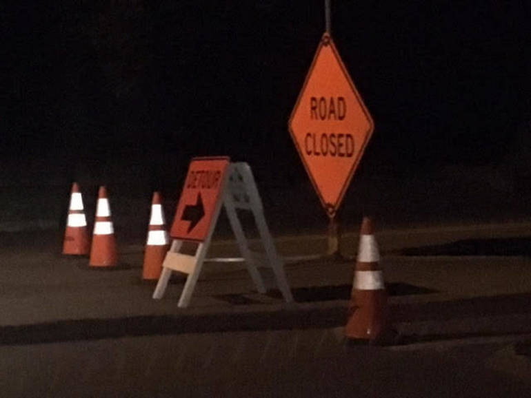 File photo of road barricade