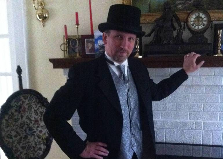 Robert Wendel Dressed in Costume.JPG