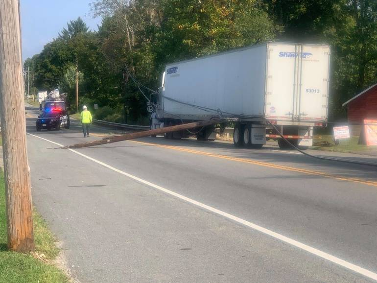 Sparta Police: Route 15 Detour Due to Downed Utility Pole