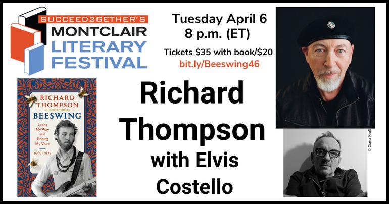 Richard Thompson & Elvis Costello in 'Beeswing' memoir launch