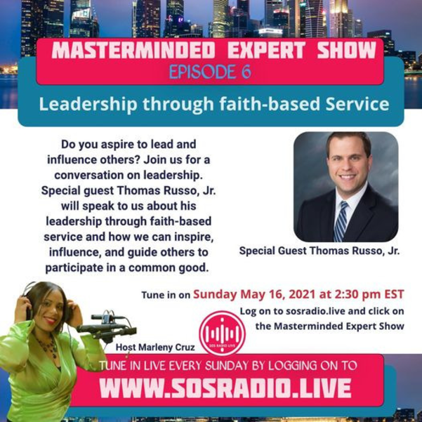 Thomas Russo, Jr Special Guest on SOSRadio Live on Sunday