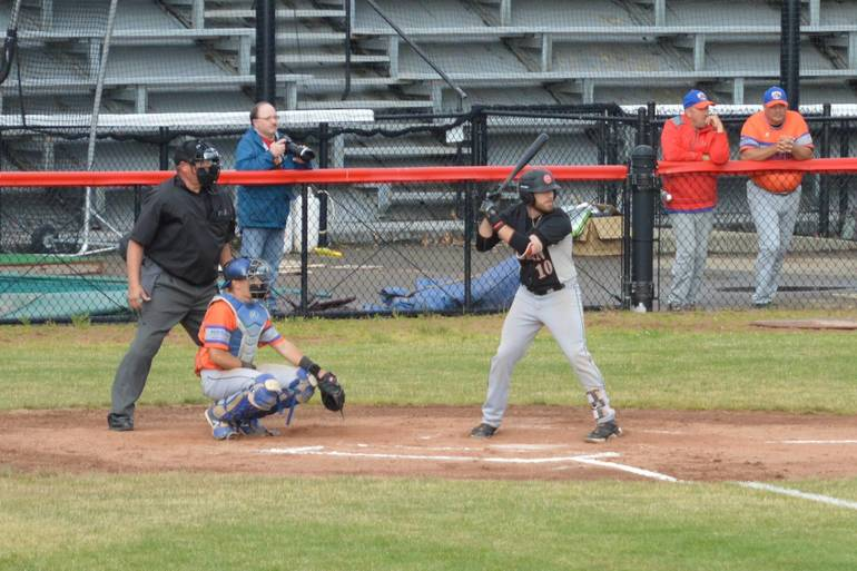 Olean Oilers and Hornell Dodgers Tie, 8-8, in Back-And-Forth Game
