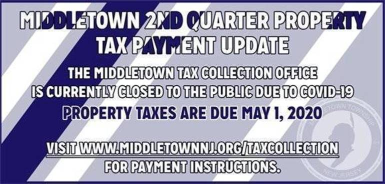 Middletown  offers three convenient ways to pay your property taxes to the Township