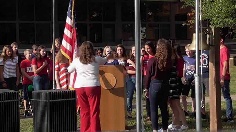 Middle School Remembers 911 with Memorial Service
