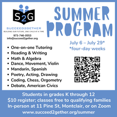 Call 073-746-0553 to find out more about Succeed2gether's summer program.