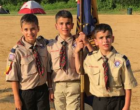 Kenilworth Pack 83 Arrow of Light Scouts Cross Over to Troop 83 Boy Scouts