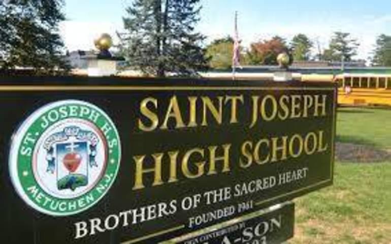 Saint Joseph High School exterior and wood sign.jpg