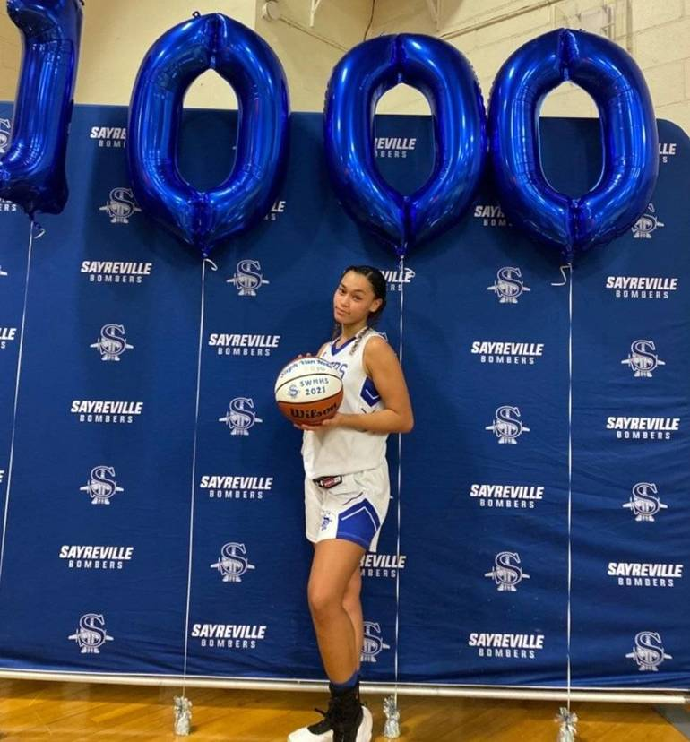 Sayreville War Memorial HS basketball star Stephanie Vannote has now surpassed 1,000 points during her stellar career.